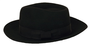 "Michael Jackson Stage Worn ""Billie Jean"" Black Fedora"