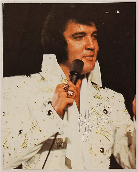 Elvis Presley Twice-Signed Two-Sided Program Picture Page