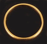 Marilyn Monroes 22 kt. Gold Wedding Band From Arthur Miller Used at Their Civil Wedding Ceremony