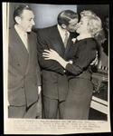"Joe DiMaggio and Marilyn Monroe ""Wedding Picture"" Original Wire Photograph"