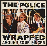 "The Police Signed ""Wrapped Around Your Finger"" Promotional Record"