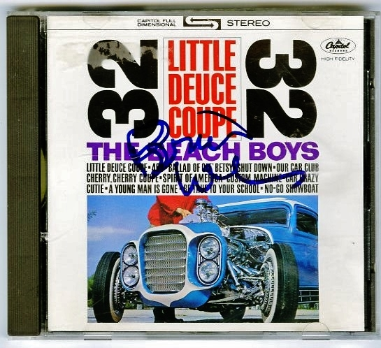 "Brian Wilson Signed Beach Boys ""Little Deuce Coupe"" CD"