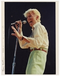 "David Bowie ""Serious Moonlight Tour"" Original Tony Defilippis Signed Photograph"