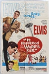 "Elvis Presley 27 x 41 Original ""It Happened at the Worlds Fair"" Movie Poster"