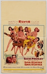 "Elvis Presley 14 x 22 Original ""Live a Little, Love a Little"" Movie Mini-Poster"