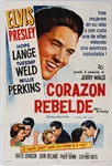 "Elvis Presley 29 x 43 Original ""Wild In The Country"" Argentinian Movie Poster"