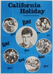 "Elvis Presley 24 x 33 Original ""California Holiday"" Danish Movie Poster"