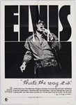 "Elvis Presley 24 x 33 Original ""Thats The Way It Is"" Movie Poster"