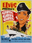 "Elvis Presley 24 x 33 Original ""Girls! Girls! Girls!"" Movie Poster"
