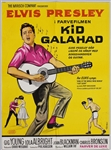 "Elvis Presley 24 x 33 Original ""Kid Galahad"" Danish Movie Poster"