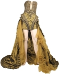 "Nicki Minaj ""Moment 4 Life"" Music Video Worn Custom Gold Gown with Drake"