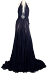 Beyoncé s Max Azria Atelier Blue Silk Gown Worn at Red Carpet Dinner with Jay-Z