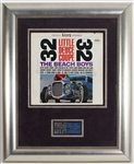 "Beach Boys Signed ""Little Deuce Coupe"" Record Display"