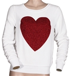 Jennifer Lopez Owned and Worn Red Heart Sweater