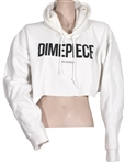 Miley Cyrus Owned & Worn DXMEPIECE White Cropped Hoodie