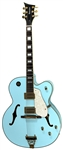 Taylor Swift 2004 Photo Shoot Used Blue Waterstone Arch Top Prototype Guitar