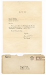 Elvis Presley Original 1963 Secretarial Signed Typed Letter to a Fan with Post-Dated Envelope