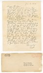 Elvis Presley Original 1964 Secretarial Signed & Handwritten Letter to a Fan with Post-Dated Envelope