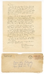 Elvis Presley Original 1963 Secretarial Signed and Handwritten Letter to a Fan with Post-Dated Envelope