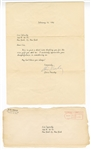 Elvis Presley Original 1964 Secretarial Signed Typed Letter to a Fan with Post-Dated Envelope