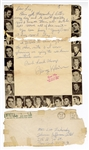 George Klein Original 1958 Handwritten & Signed Letter to a Fan with Post-Dated Envelope