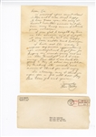 Elvis Presley Original 1962 Secretarial Signed & Handwritten Letter to a Fan with Post-Dated Envelope