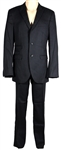 Justin Timberlake Stage Worn Custom Black Pin-Stripe Suit