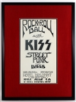 "Kiss Early Original ""Rock & Roll Ball"" 1973 Hotel Diplomat NYC Concert Poster"