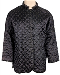 Liza Minnelli Owned & Worn Chinese-Style Black & Gold Quilted Jacket