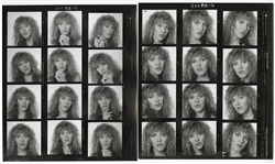 "Fleetwood Mac Stevie Nicks Original ""Live"" Album Cover Contact Sheet Head Shots from the Collection of Larry Vigon"