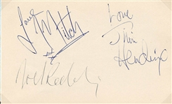 Jimi Hendrix Experience Autographs with Ian Wright Signed & Stamped Original Photograph