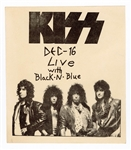 KISS and Black N Blue Original 1985 Concert Handbill