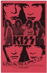 KISS with King Kobra Original Civic Center Concert Poster