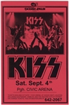 KISS Original Civic Center Concert Poster