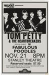Tom Petty & The Heartbreakers Original 1979 Stanley Theatre Concert Poster