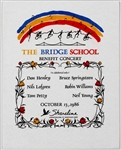 Bridge School Benefit Original 1986 Benefit Concert Pellon Featuring Bruce Springsteen, Neil Young, Tom Petty and More