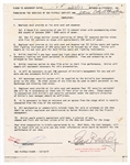 "Sid Vicious Rare ""John Beverley"" Signed Sex Pistols Concert Contract Rider"