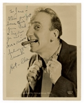 Jimmy Durante Signed and Inscribed Photograph JSA Authentication