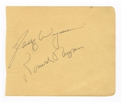 Ronald Reagan and Jane Wyman Signed Album Page JSA LOA