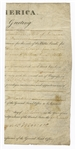 James Monroe Signed Partial Document JSA LOA
