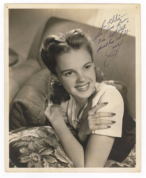 Judy Garland Signed Photograph JSA LOA