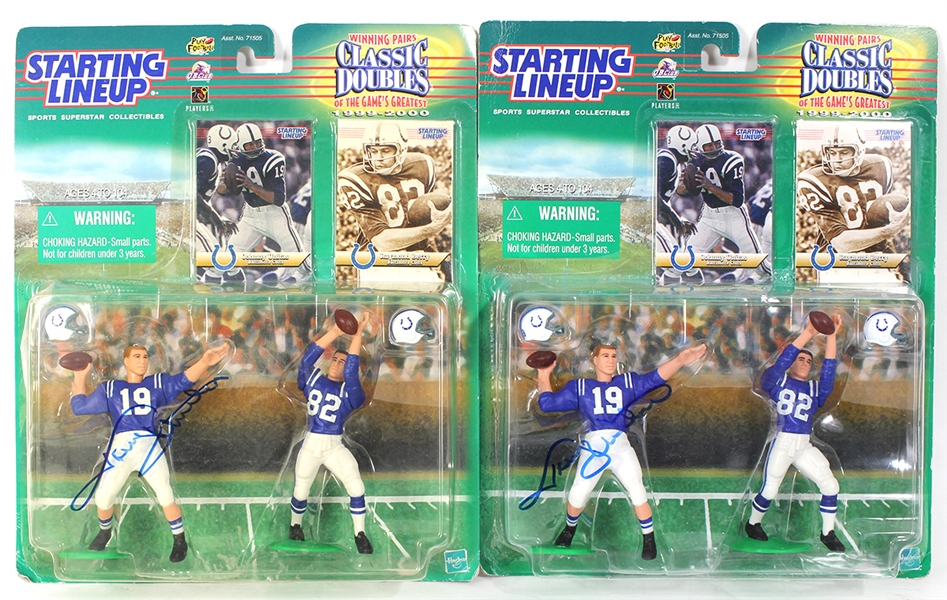 Johnny Unitas Starting Lineup Collectibles Signed Figurines in The Box JSA Authentication