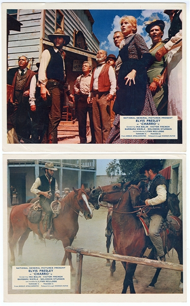 "Elvis Presley ""Charro"" Original Movie Theater Lobby Cards"