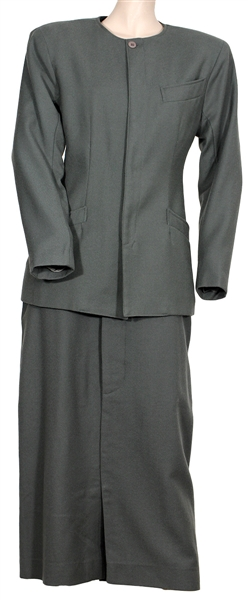 "Cher ""Suspect"" Screen Worn Grey Wool Two-Piece Suit"