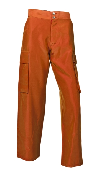 "Spice Girl Melanie C Istanbul Stage Worn and ""Spice World: The Movie"" Promo Worn Orange Trousers"