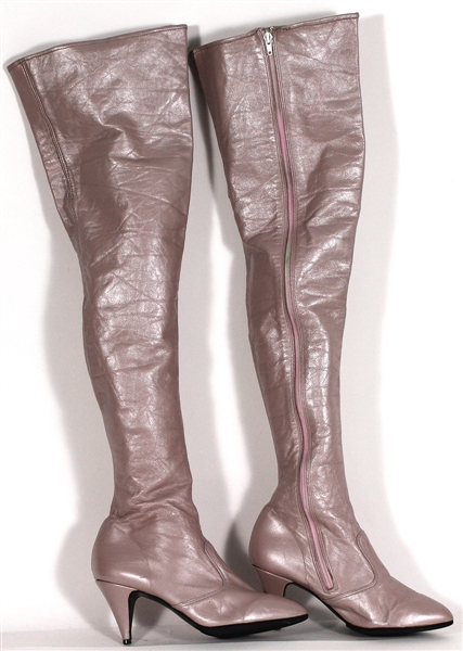 "Spice Girl Emma Bunton ""Stop"" Music Video Production Worn Pink Thigh High Boots"