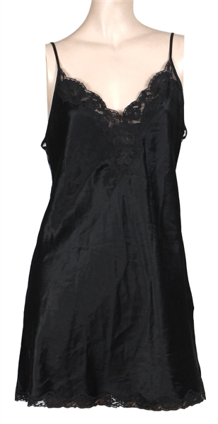 Courtney Love Early Stage Worn Victorias Secret Black Baby Doll Teddy