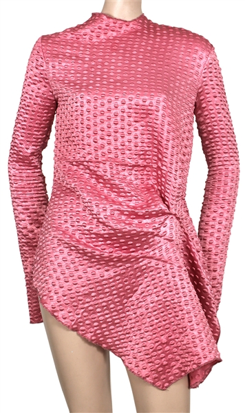 Dua Lupa Worn Celia Valverde Short Pink Mini Dress