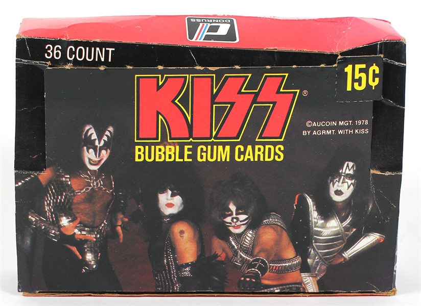 KISS Vintage 1970s Bubble Gum Card Box