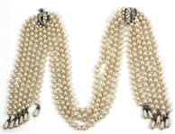"Prince ""Diamonds and Pearls"" Music Video Production Worn Faux Pearl and Diamond Necklace"